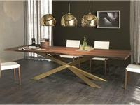стол обеденный TOP  A  Spyder Wood Cattelan  walnut