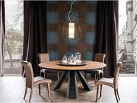 стол обеденный  Eliot Round Cattelan  walnut